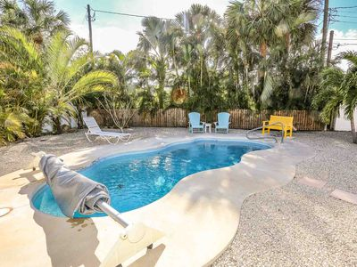 Photo for Tropical Paradise Pool Home With Tiki Hut Seconds To The Beach