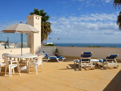Photo for Luxury 2bed, 2bath apartment with WiFi, A/C, private roof terrace with sea view