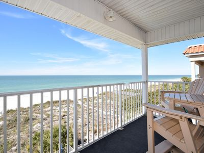 Photo for Sea Isles Beach Front Penthouse 2 Bedroom 2 Bath/Small intimate Building only 6 units/Free wifi/free beach equipment