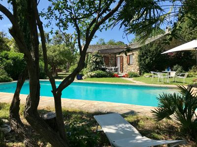 Photo for Stone house, 3 bedrooms, 2 bathrooms, pool and large garden