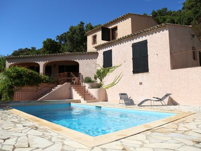 Photo for Villa sea 20km from Saint Tropez, heated pool, air-conditioned rooms