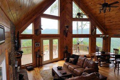 A stunning view from inside and outside!