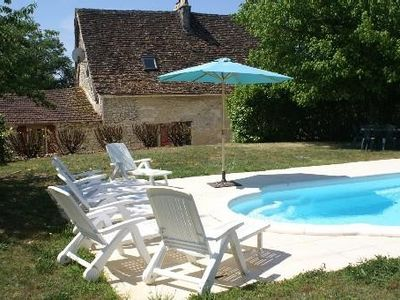 Photo for Beautiful old perigordian house from the 18th. with pool