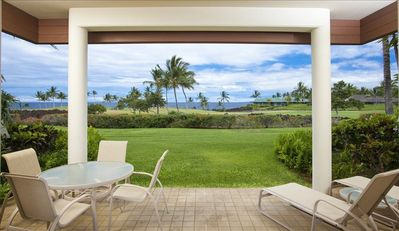 Our private lanai provides a great space to enjoy the view.