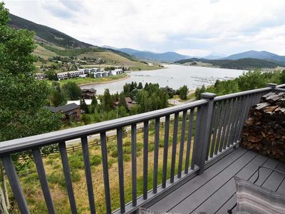 Photo for Overlooking Lake Dillon - In-Town with Big Yard, Mountain Views, Walk to Amphitheater Shows, Marina