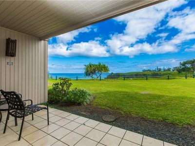 Photo for Well appointed condominium overlooking Turtle Cove at Pali Ke Kua