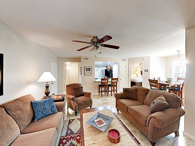 Photo for New Listing! Stylish & Spacious Condo w/ Pool, Spa & Gym - Minutes to Golf