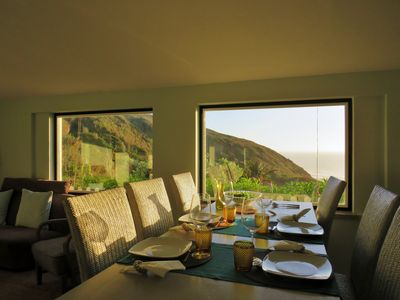 Dining area with ocean view