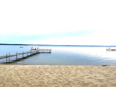 "Photo for Pelican Lake's ""Sunset Beach"", sugar sand, clear water, perfect for children"
