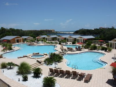 Photo for Luxury Condo overlooking pools, Redfish Lake, and the sparkling Gulf of Mexico