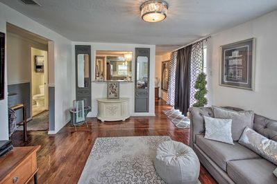 You will love the property's impressively decorated interior.