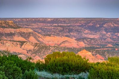 Panoramic view of Palo Duro Canyon as seen from Nocona Lodge.