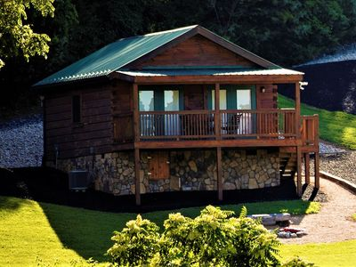 Photo for Hawksbill Retreat Cabin 10 Hot Tub Mountain View Beautiful 45 acre near Luray VA