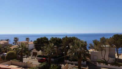 Photo for DHH with fantastic sea views, roof terrace, private pool, DSL, WiFi, air conditioning