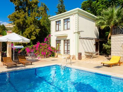 Photo for Villa Lamyros: Swimming Pool, Walk to Beach, A/C, WiFi, Car Not Required