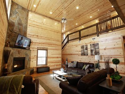 Photo for Brand New Luxury 3 Bd/3 Bth Cabin - Heaven Sent Cabin