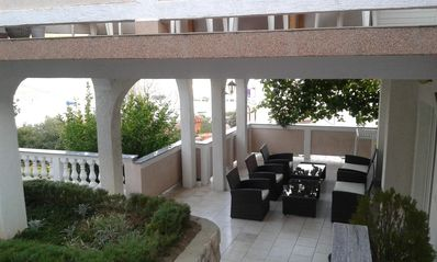Photo for Four bedroom apartment with terrace and sea view Kampor (Rab)