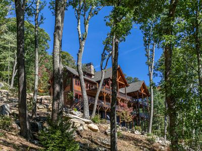 Photo for Castle Rock- Eagles Nest with 180* views, hot tub, outdoor kitchen, and fire pit!