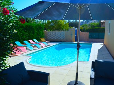 Photo for air-conditioned villa with private pool in the Var close to Sanary and Six Fours