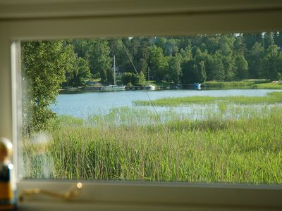 Photo for Sea view cottage 25 meters from sea. Boat 4 hp (new 2019) + canoe included