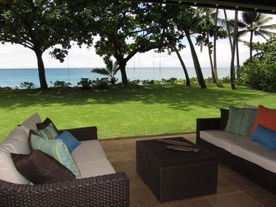 Photo for Beachfront Luxury Home With Spacious Yard North Shore of Oahu