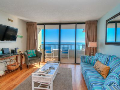 Photo for Two bedroom ocean front with large indoor pool!