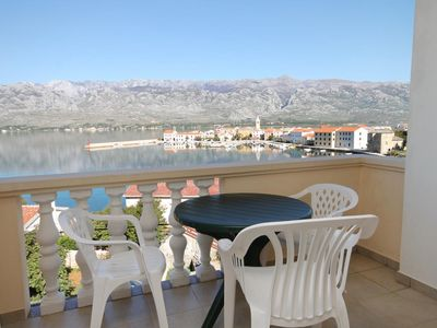 Photo for Studio flat with terrace and sea view Vinjerac, Zadar (AS-3248-l)
