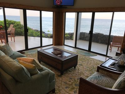 Photo for Villa On The Ocean - One Of Largest Condos On Alii Drive. Directly Oceanfront.