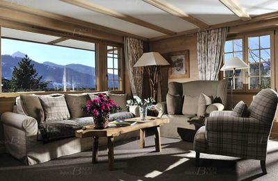 Photo for Gstaad Mountain-style Apartment With Fabulous Mountain View And Large Garden