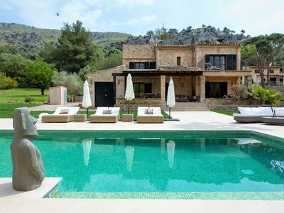 Photo for 300m² terrassa, summer kitchen, 18. 000m² plot with palm trees olive trees, almond