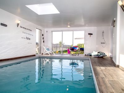 Photo for VILLA HIGH STANDING SWIMMING POOL at 29 ° BEACH on foot SEA VIEW