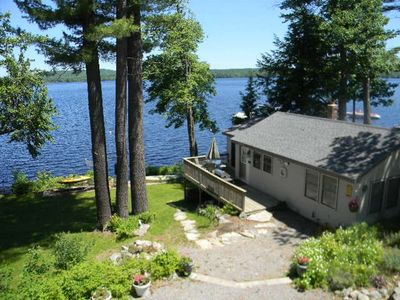 Photo for Beautiful 2 bedroom cottage steps from the water on Long Lake