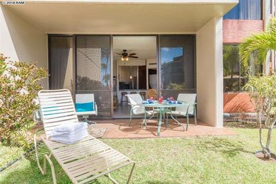 Ground floor location means A103 is just a few easy steps from the beach, pool, and restaurant