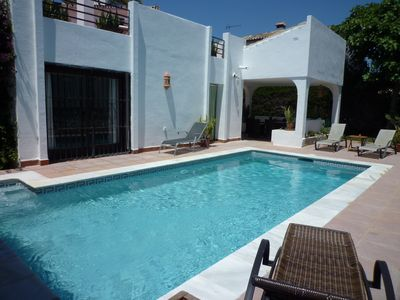Photo for Villa Beachside With Private Pool On The Golden Mile 7 Mins Walk To Puerto Banus