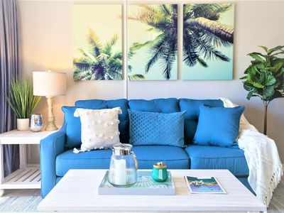 Photo for Beach Living at its Best - Gorgeous Condo, Steps to Pier!
