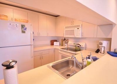 Kitchen with full ammenities.