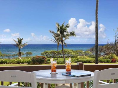 Photo for Kaha Lani 210: Updated, Beachfront, Oceanview, King Bed