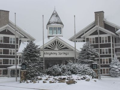 Photo for Allegheny Springs 308- King bed, in Snowshoe Village, Pool & Hot Tub!