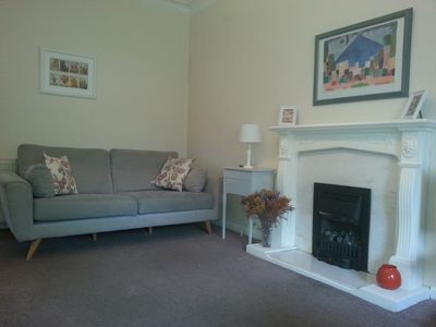 Living room with living flame gas fire