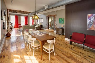 Loft Living and Dining Area