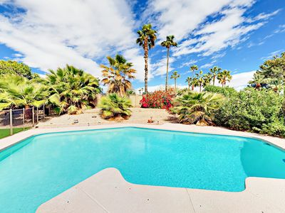 Photo for Posh 4BR Home with Backyard Oasis – Private Pool & Spa