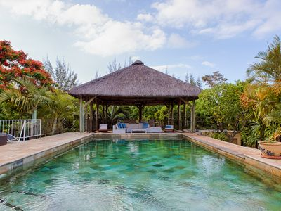 Photo for Magnificent secured villa overlooking lagoon 5 minutes from the beach Private pool salt