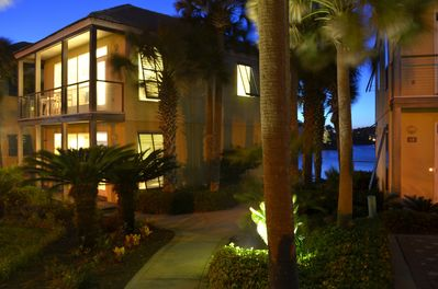 Villa 3 with views of the Gulf of Mexico and Lake Destiny just 50 steps to beach
