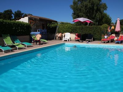 "Photo for Gîte ""Chez Gaillardet"", accommodation 2 to 4 pers. with secure pool, heated"