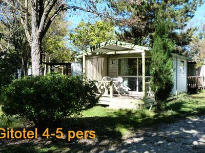 Photo for Camping L'Eau Vive *** - Chalet Gitotel 3 rooms for 5 people