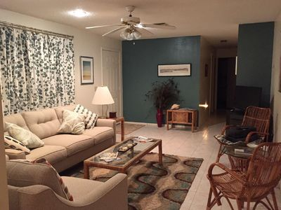 Living Room - lovely gathering place for conversation and relaxation.
