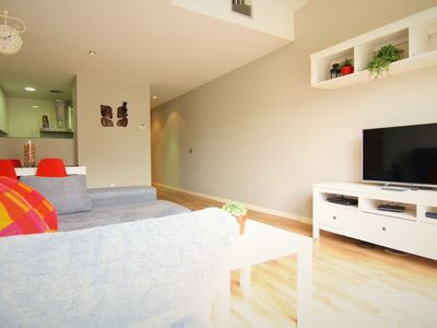 Photo for PARADISE: Ground floor with private garden terrace, parking and communal pool.