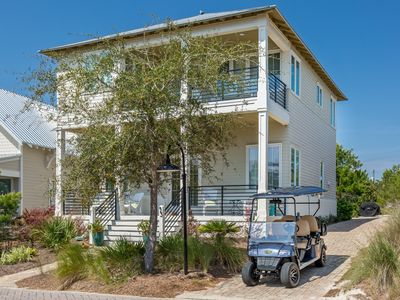 Photo for 30A☼ Highland Park-Pool-Golf Cart☼Inspected & Disinfected☼5BR Beach Bound & Down