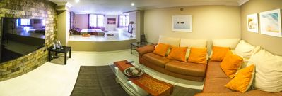 View from entry to: Chill-out area & television room.The perfect place to relax