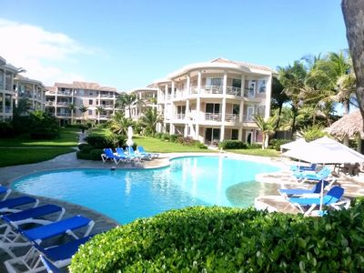 Photo for Sunny, ground floor, 2 bedroom in exclusive gated beachfront resort